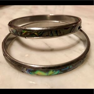 Jewelry - Natural Multicolor Abalone Bangle Bracelet (2)